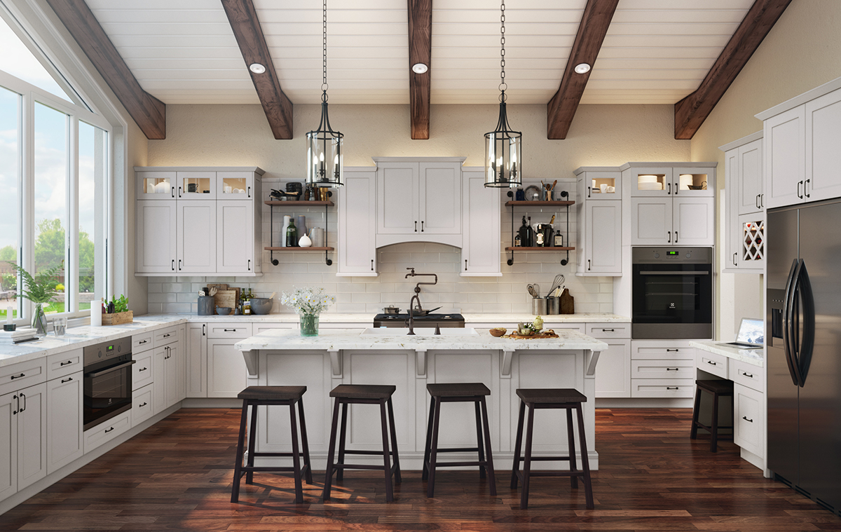 Beautiful kitchen cabinets like this are possible to get 100% online. Find out how.